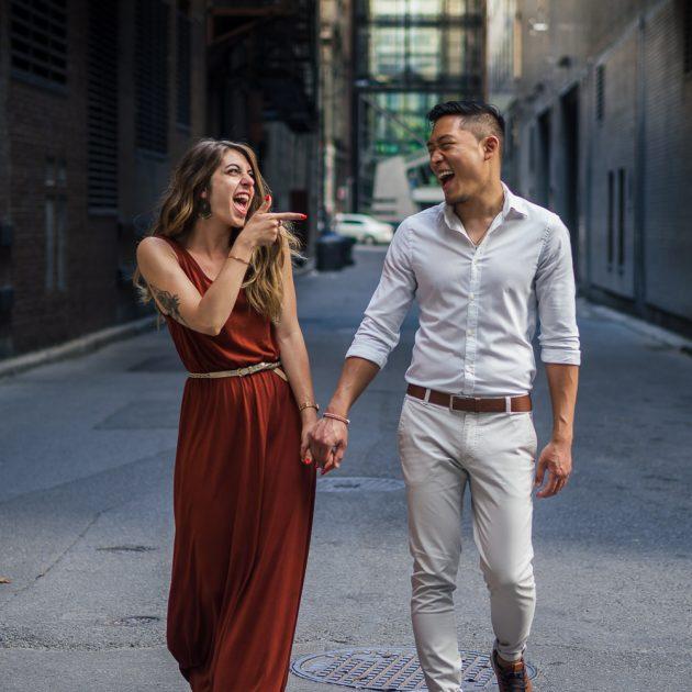 couple, Montréal, séance couple, vieux-Montréal, shooting photo, engagement, photographe de famille, Laulinea
