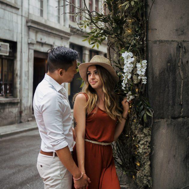 séance photo couple, montreal, shooting photo, vieux-montréal, vieux-port